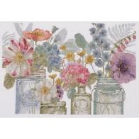 Kit Aquarelle fleurs en bocaux