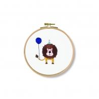 Kit broderie  Grrr! Kit lion  20x 20 cm