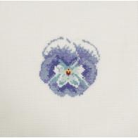 Mini kit point de croix fleur Pensée