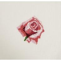Mini kit point de croix fleur Rose rose