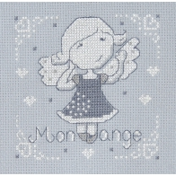 FILLE ANGE GRIS THEME PURE WHITE