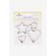 Emporte pièces coeur et étoile pour le Patch Art