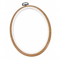 Cadre tambour ovale à broder  17,5 X13